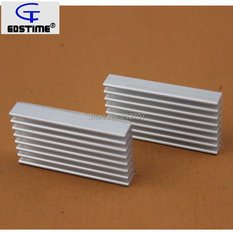 100Pcs Gdstime Aluminum Heatsink 50x28x8mm 50mm Electronic IC Chip Cooling Radiator Cooler in Fans Cooling from Computer Office