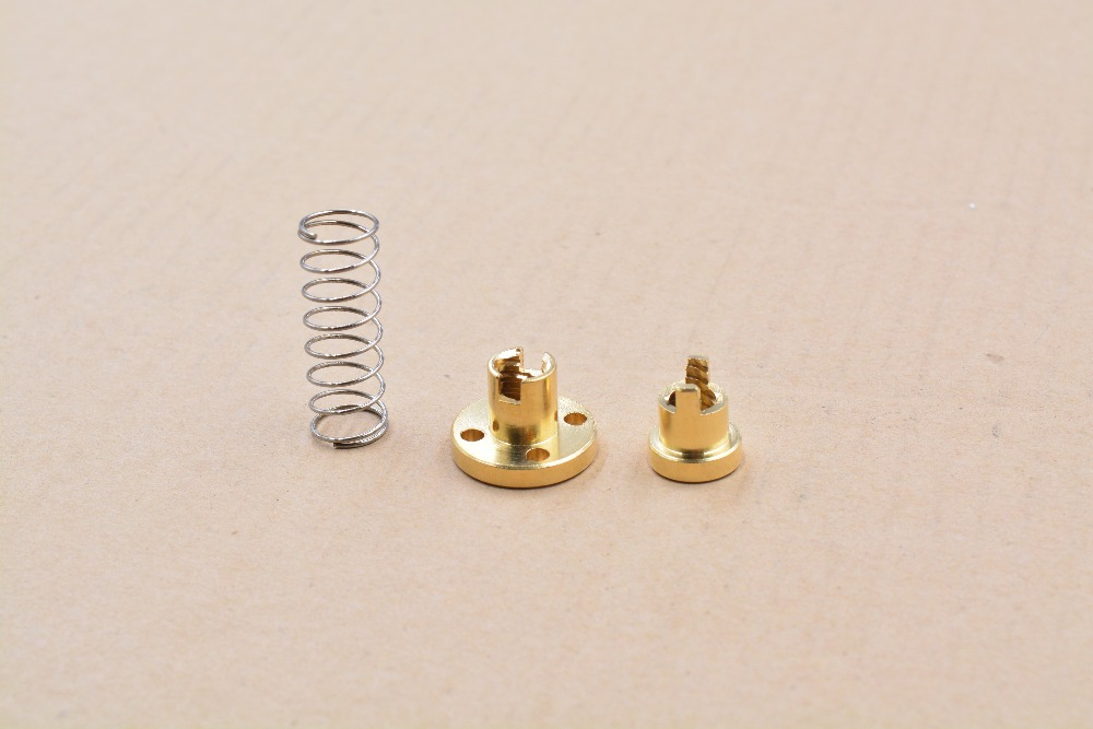 цена на T8 anti backlash spring loaded nut elimination gap nut for 8mm acme threaded rod lead screws DIY CNC 3D printer parts