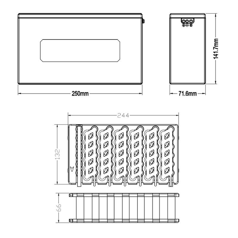 Boîtier de batterie au lithium 13S6P 48 V 20Ah boîtier de batterie li-ion + support + nickel + 13 S 20A BMS pour batterie 18650 peut être placé 78 cellules - 6