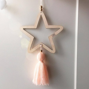 Nordic Style Wooden Star Wind Chimes Kid Home Decoration Accessories Art Wall Hanging For Girls Living Room Toddler DreamCatcher(China)