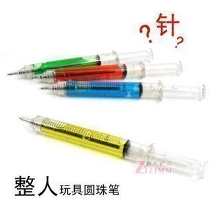 Syringe pen stationery novelty syringe 10g ballpoint pen