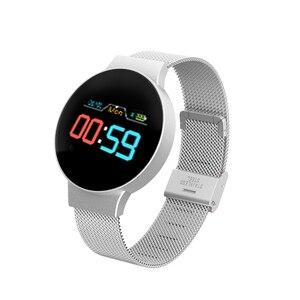 Image 1 - Dropshipping tanie BluetoothSmart zegarek dla androida/IOS iphone wodoodporny ekran dotykowy sport zdrowie inteligentny zegarek damski