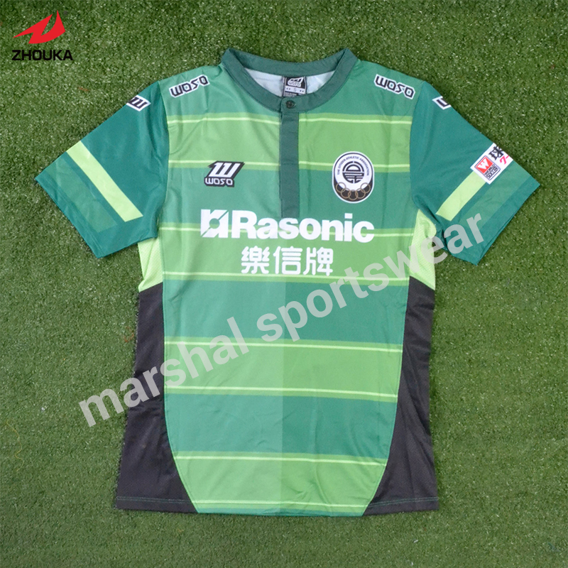 Soccer wear tops blank soccer jersey logos sublimated T shirt polo neck 5 maillots 14 15 soccer jersey