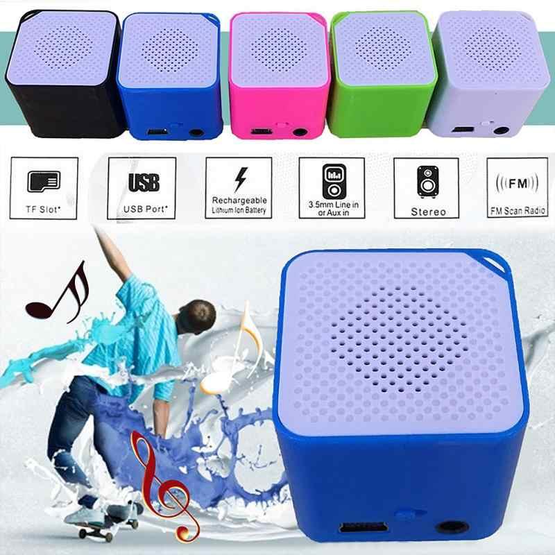 2016 新ファッションポータブルミニ MP3 音楽プレーヤーサポート 16 グラム SD TF カードスピーカーキャンペーン MP3 音楽プレーヤー内蔵スピーカー