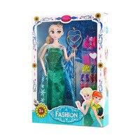 Disney 30 cm Congelés Princesse Jouets Elsa Anna Poupée Princesse Poupées Chaussures Vêtements Accessoires pour Enfants Fille D'anniversaire Cadeaux