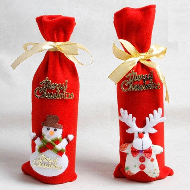 Chłodny Santa Garnitur Ubrania Świąteczne Dekoracje Butelka Wina Okładka CP61