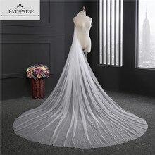 Элегантная свадебная фата длиной 3 м. Длинные мягкие свадебные фаты одного слоя как расческа Цвет слоновой кости Свадебные аксессуары для невесты