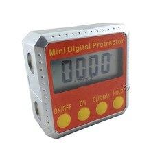 Цифровой угломер цифровая коническая коробка 4x90 градусов диапазон металлический чехол