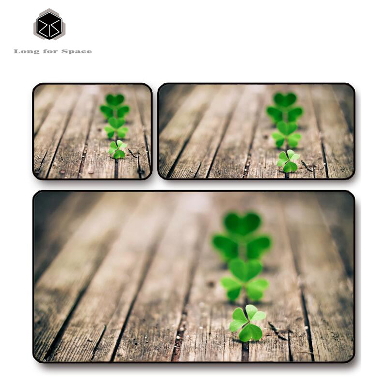 SJLUHS Clover Plant Mouse Pad Lock Edge Creative Large Thickening Game Keyboard Table Mat Free Shipping