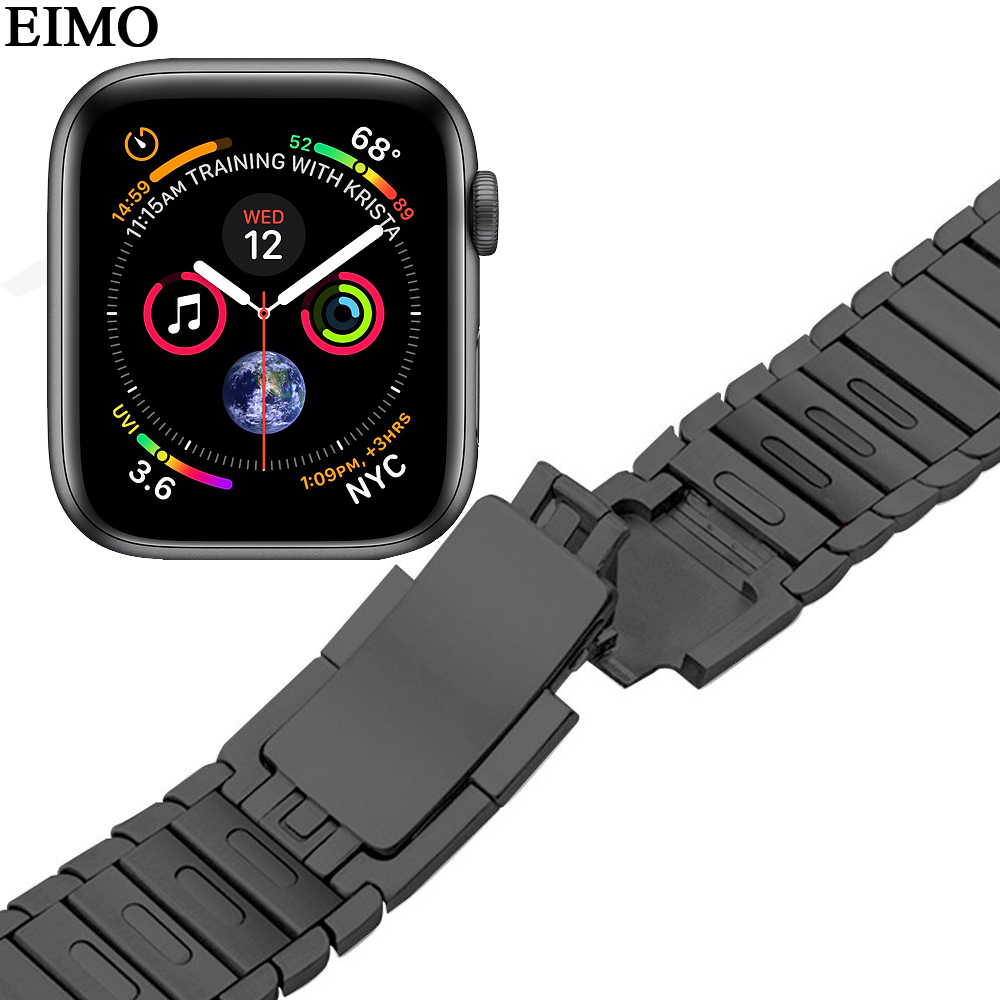 EIMO Link Bracelet Strap for Apple Watch Band series 4 44mm 40mm iwatch 4 3 2 1 42mm 38mm Stainless Steel Wrist Belt Watchband цена