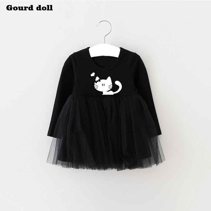Baby Girls Dress character cat Infant Party Dress For Toddler Girl 4 24M  Brithday Baptism Clothes Double Formal Dresses Tags  0fc629bdc