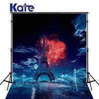 Kate No Wrinkles Photo Backdrops Blue Sky White Cloud Background Fireworks Eiffel Tower Studio For Newborn