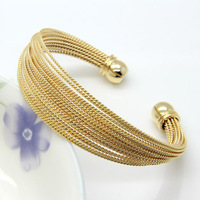 Never Fade Stainless Steel A Lot Of Twisted Wire Bracelets Bangles 18K Gold Rose Gold Silver