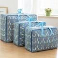 3 шт./компл. сумка для хранения Оксфорд тканевая сумка для багажа водонепроницаемый шкаф, органайзер для хранения коробок M + L + XL контейнер дл...
