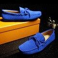 Cuero genuino Zapatos Para Hombre Casual Chaussure Homme Tenis Bordeado Cerdo Tallas de Zapatos Slip-on de Los Hombres de la Marca de Calidad Superior
