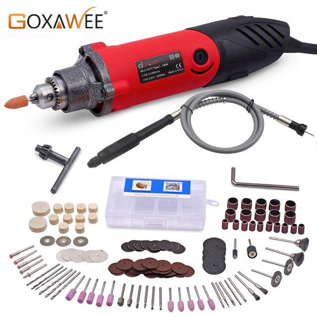 GOXAWEE taladro eléctrico Dremel de 240W, herramienta rotativa, Mini amoladora para pulir, máquina de perforación metalúrgica