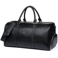 Sport Gym Genuine Real Leather Duffel Bag Weekender Overnight Luggage For Men Women Travel