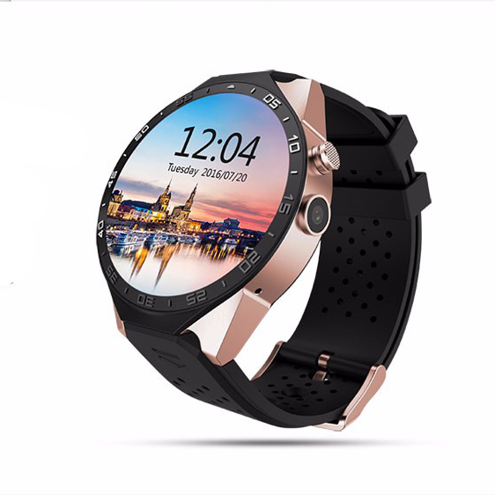 WIFI Smart Watch Android 5.1 OS MTK6580 Quad Core Smartwatch Phone Google Map 3G SIM APP Heart Rate Monitoring GPS Watches