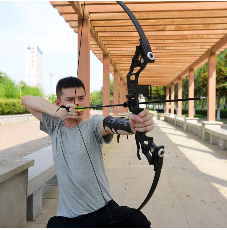 Poderoso arco recurvo 35-40lbs profissional caça arco tiro com arco terno para a prática de tiro ao ar livre setas acessórios