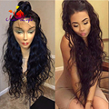 Hot Sale Loose Curl Synthetic Lace Front Wig With Baby Hair Long Curly Afro Fiber Hair Wigs 180 Density Thick Hair No Tangle