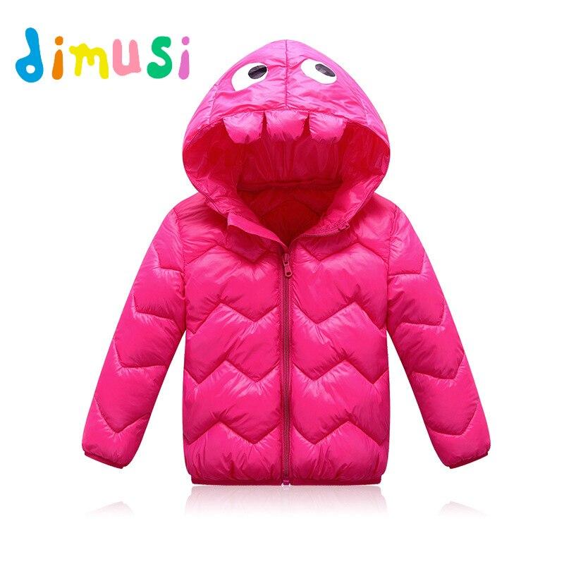 19aac58b36e DIMUSI invierno niños chaquetas moda algodón grueso abrigo bebé Casual  Outwear Parkas encapuchados 8 t,