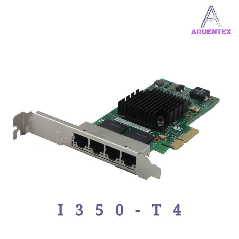 ARUENTEX I350-T4 Quad Port Gigabit Ethernet PCI-E X4 Intel I350AM4 Network Server Adapter Card alibaba express e350t4 pci e x1 quad port 10 100 1000mbps gigabit ethernet network card server adapter lan intel i350 t4 nic