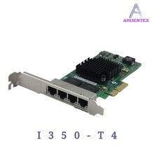 ARUENTEX I350-T4 Quad Порты и разъёмы Gigabit Ethernet PCI-E X4 Intel I350AM4 сетевой адаптер сервера карты alibaba express