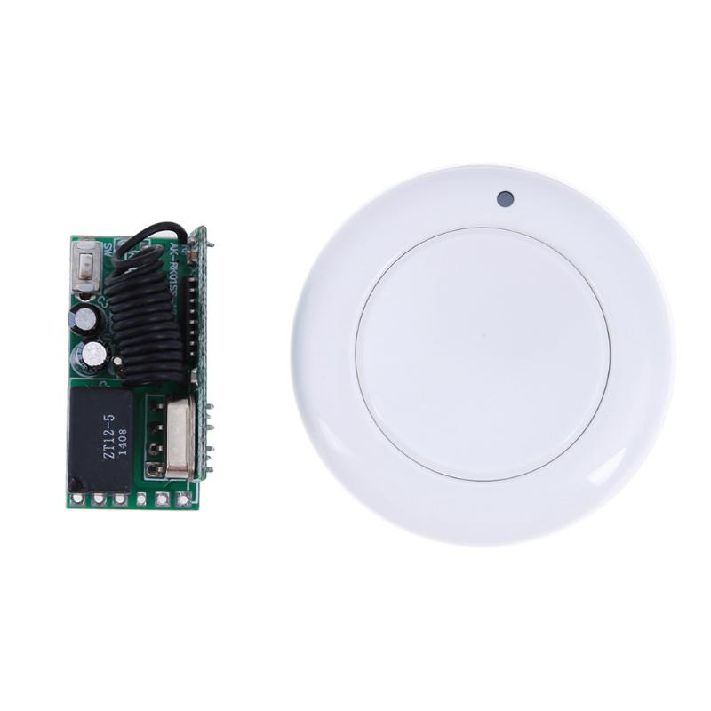 315MHz 433MHz DC 5V Micro Remote Control Switch Mini Small Receiver LED Power ON with Wall Round Transmitter small ac220v remote control switch long range transmitter receiver 200 3000m lamp light led remote lighting switch 315 433 92mhz