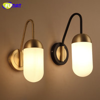 Modern Bedside Wall Light Fashion Hotel Living Room Bedroom Lamp Creative Glass Lighting Modern Stairs Wall Sconce