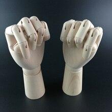 20 см правая/левая рука модель для творчества шарнирная скульптура из дерева манекен Деревянный Рисунок Манекен художественные принадлежности