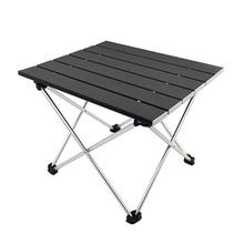 Открытый Портативный облегченный алюминий сплав стол мини легко чистить Водонепроницаемый Многофункциональный складной столик для кемпинга прочный