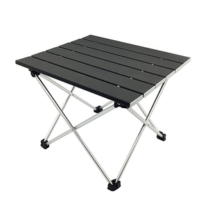 Image 1 - Outdoor Portable Lightweight Aluminium Alloy Desk Mini Easy Clean Waterproof Multiuse Camping Folding Table Hard Topped Durable
