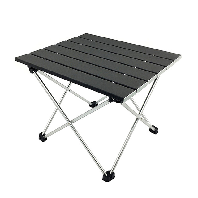 Outdoor Portable Lightweight Aluminium Alloy Desk Mini Easy Clean Waterproof Multiuse Camping Folding Table Hard Topped Durable
