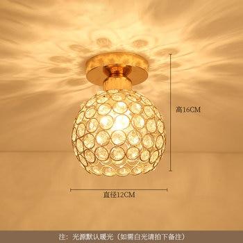 Artpad Modern LED Crystal Ceiling Light for Entrance Corridor Balcony Aisle Decor Surface Mount Square Round Gold Ceiling Lamp 8