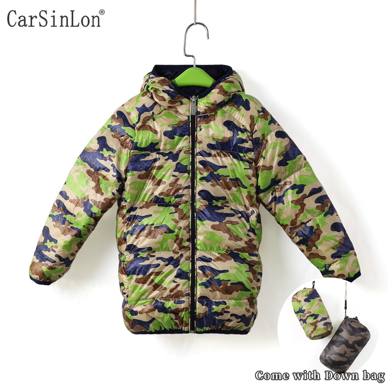 Free Shipping High Quality Kids Winter Coat Down Jackets 90% White Duck Down Camouflage Light Boys Girls Casacos With Bag fancytrader new style giant plush stuffed kids toys lovely rubber duck 39 100cm yellow rubber duck free shipping ft90122