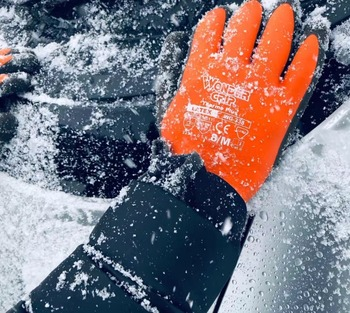 цена на Garden Gloves Warm  Safety Glove Acrylic Anti Cold Thermal Gloves Waterproof Glove Cold Proof Winter Work Gloves