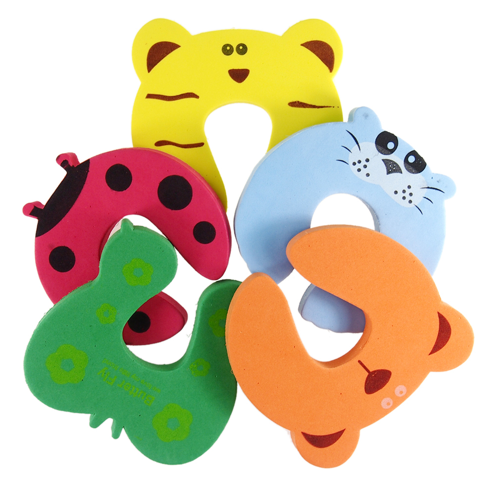 Hot Sale 5Pcs/Set Door Stopper Cartoon Animal Random Color Baby Children Safety Guard Foam Door Stopper