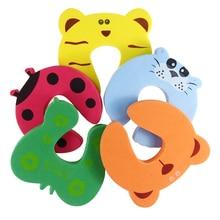 Hot Sale 5Pcs/Set Door Stopper Cartoon Animal Random Color Baby Children Safety Guard Foam Door Stopper