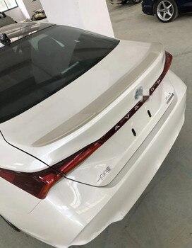 Dla Toyota nowy Avalon tylny Spoiler bagażnika skrzydło lip spoiler wysokiej jakości tworzywo ABS materiał samochód tylne skrzydło podkład kolor 2018 -2019