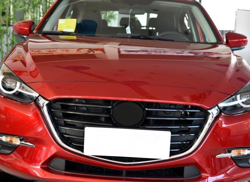 For Mazda 3 Sport Axela 2017-2018 Front Upper Grille Bumper Top Roof Grill Grille Replce 1pcs задний диффузор axela sport для mazda 3 2013 2017