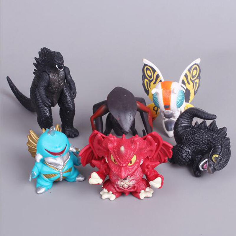 Sale Cute Godzilla Muto PVC Action Figures Collectible Movie Model Toys Kids Plastic Toys For Kids Gifts Doll Desk 6pcs/set 12pcs set children kids toys gift mini figures toys little pet animal cat dog lps action figures