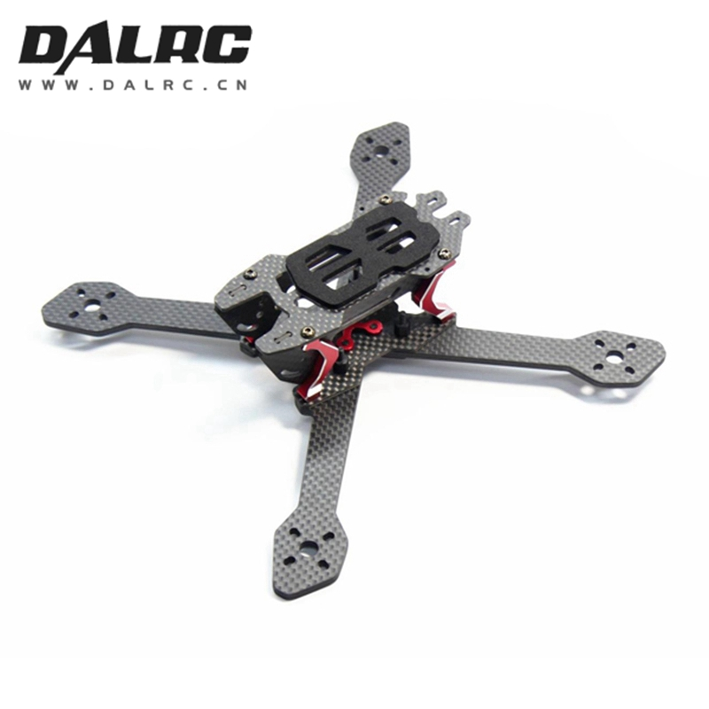 DALRC Title X212 212mm Wheelbase 4mm Arm Carbon Fiber FPV Racing Frame Kit w/ Buzzer LED Board 97g