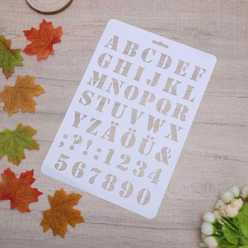 Detail Feedback Questions about Hollow DIY Alphabet Number Letter