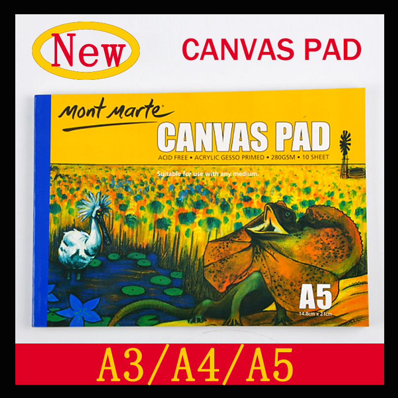 Oil Acrylic Painting Canvas Pad Paper Book 280g painting canvas paper A3/A4/A5 цена 2017