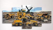 5d Diy Diamond Painting Engineering Vehicle Excavator Rhinestone 5D Embroidery Mosaic Needlework Art 5 Piece