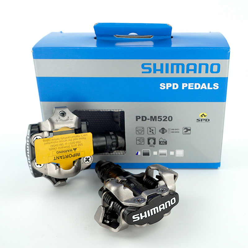 Shimano PD M520 Clipless SPD Pedals MTB Bicycle Racing Mountain Bike Parts Shimano original genuine bike