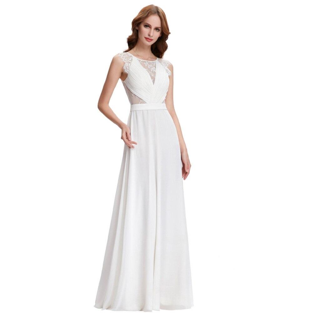 Vestido De Noiva A Line Wedding Dresses Under 50 Vintage Lace Chiffon Bridal Dresses 2017 Beach