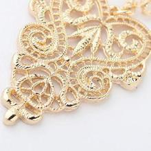 Fine Jewelry Drop Earrings Retro Vintage Alloy Hollow Women Silver Gold Leaflike Long Bohemian Pierced Dangle Earrings Wholesale