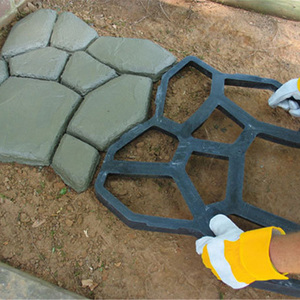 Image 3 - Black Plastic Making DIY Paving Mould Home Garden Floor Road Concrete Stepping Driveway Stone Path Mold Patio Maker
