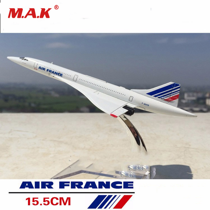 kids toys 1/400 Scale Concorde Air France Diecast Plane Model Collectible Aircraft Toys for Children Gift 1 400 jinair 777 200er hogan korea kim aircraft model